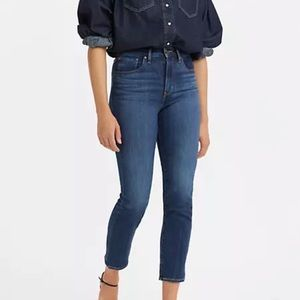 724 High Rise Straight Cropped Jeans